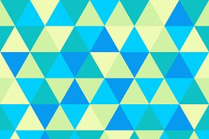 Triangle pattern, green and blue