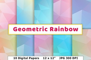 Geometric Rainbow Digital Paper