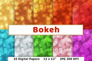Bokeh Digital Paper, Glowing Dots