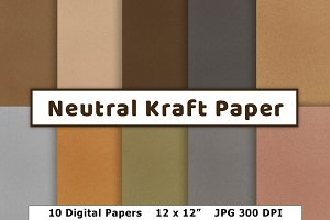 Neutral Kraft Paper, Earth Tones