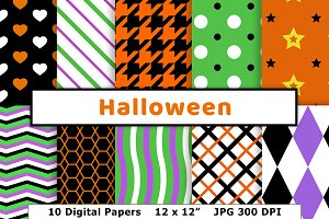 Halloween Digital Paper, October