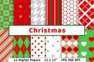 Christmas Digital Paper, December