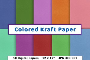 Colored Kraft Paper, Paper Texture