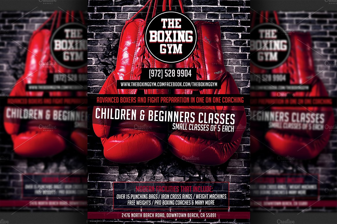 Boxing Gym Flyer Template ~ Flyer Templates ~ Creative Market
