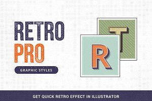 RetroPro-Illustrator Graphic Styles