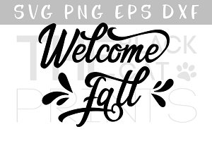 Welcome Fall SVG DXF EPS PNG