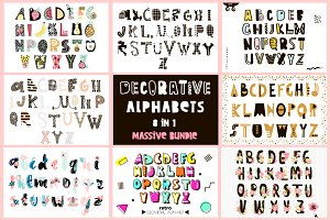 Decorative alphabets bundle