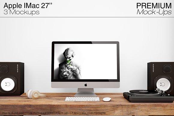 Download Apple IMac 27'' Mockups - FREE Facebook PSD Post Mockup