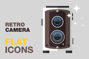 Retro Camera Flat Icons