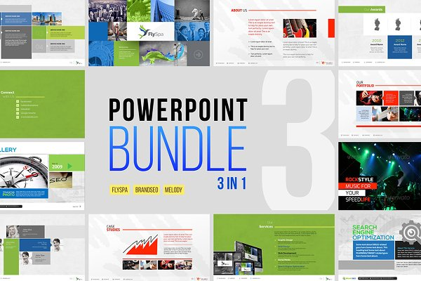 Minimal Business Powerpoint Bundle