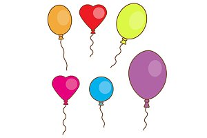 Simple balloons isolated on white