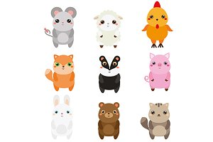 Cute animals. vector+jpg