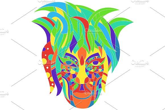 Multicolor Tribal Design Girl