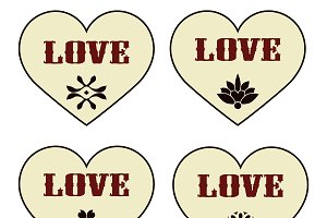Vector Valentine's Design Elements