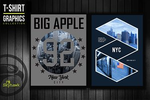 New york city tee shirt graphics