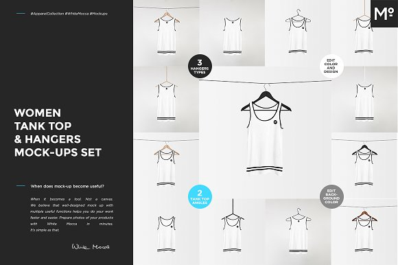 Women Tank Top Hangers Mock-ups