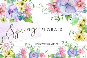 Hand Painted Graphics: Spring Floral