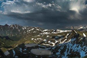 Mountain lakes.