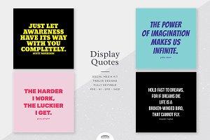 Display Quotes Social Media Kit