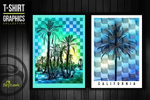 California tee shirt graphics
