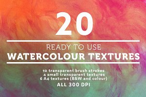 20 watercolour / watercolor textures