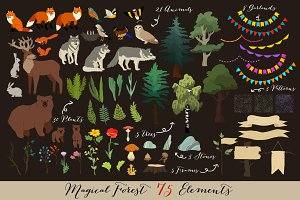 75! Forest Animals and Plants!