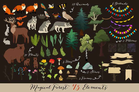Magical Forest 75elements 21patterns