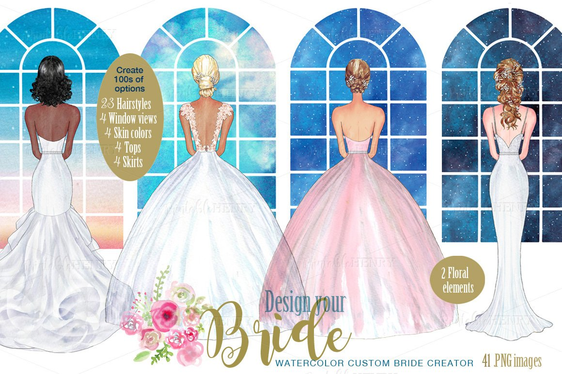 Custom Bride Creator ~ Illustrations ~ Creative Market