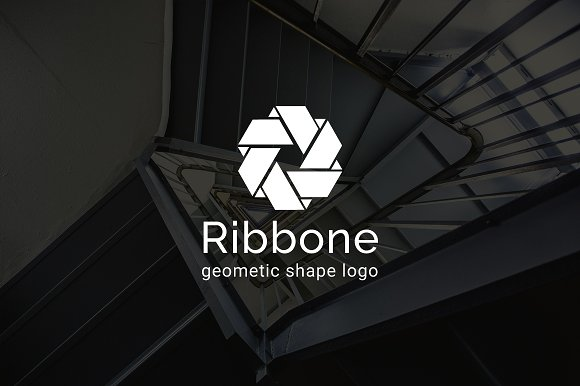 Ribbone Geometric Shape Logo