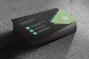 Black Stylish Business Card Template