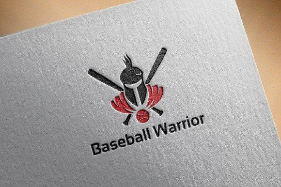 Baseball Warrior Knight Logo