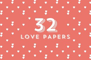 32 Love paper patterns
