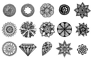 30 creative hand drawn mandalas set