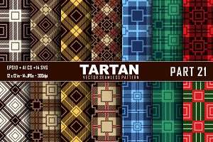 Seamless  Tartan Pattern Part - 21