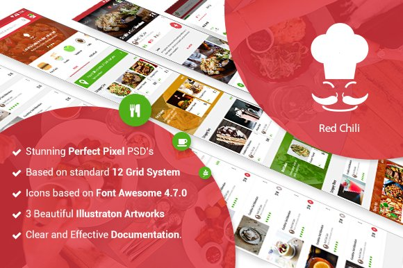 Food ECommerce Mobile Template