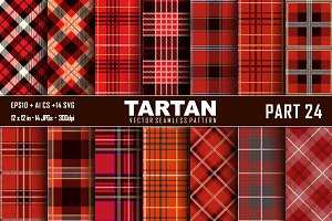 Seamless  Tartan Pattern Part - 24