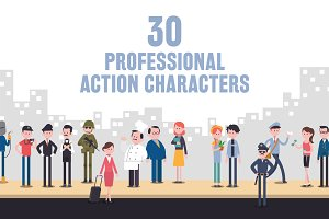 30 Professional Action Characters