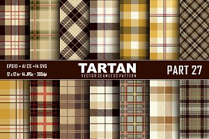 Seamless  Tartan Pattern Part - 27