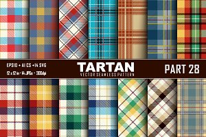 Seamless  Tartan Pattern Part - 28