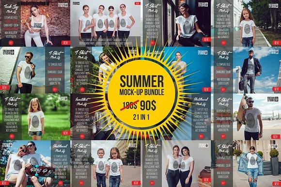 Summer Mock-Up Bundle-Graphicriver中文最全的素材分享平台