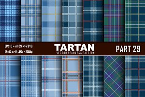 Seamless  Tartan Pattern Part - 29