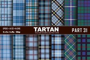 Seamless  Tartan Pattern Part - 31