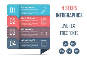 Four Steps Infographics