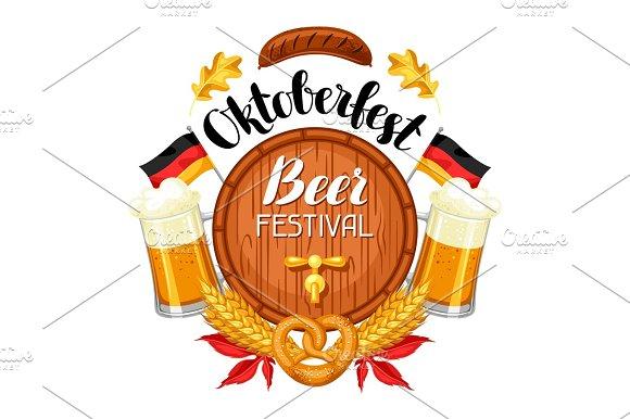 Oktoberfest Beer Festival Illustration Or Poster For Feast