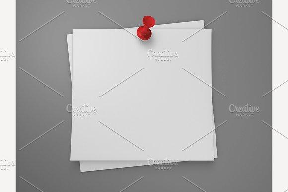 Push Pin On White Note