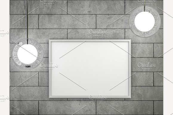 White Blank Poster Mock-up