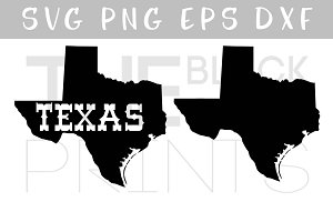 Texas map SVG PNG EPS DXF