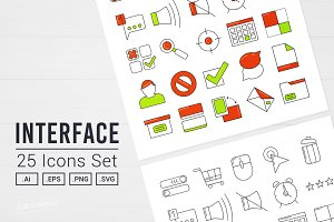 Interface Vector Icon Set