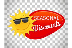 Summer sale label seasonal discount
