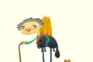 Cat lady .
